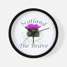 Scotland The Brave Thistle Design Wall Clock