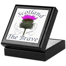 Scotland The Brave Thistle Design Keepsake Box