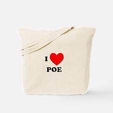 I Love Poe Tote Bag