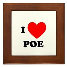 I Love Poe Framed Tile
