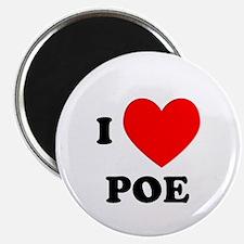 I Love Poe Magnet