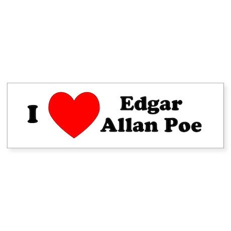 I Love Poe Bumper Sticker
