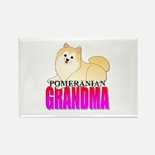 Pomeranian Grandma Rectangle Magnet