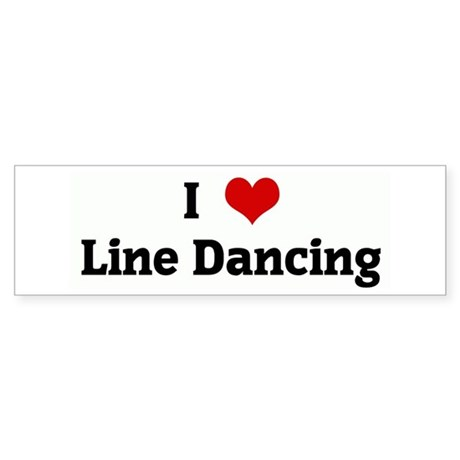 I Love Line Dancing Bumper Sticker