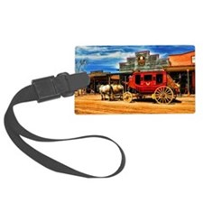 Old West Stagecoach Luggage Tag