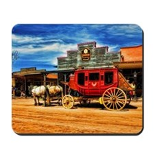Old West Stagecoach Mousepad