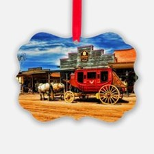 Old West Stagecoach Ornament