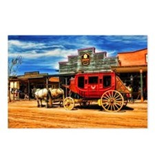 Old West Stagecoach Postcards (Package of 8)