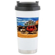 Old West Stagecoach Travel Mug