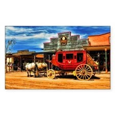 Old West Stagecoach Decal