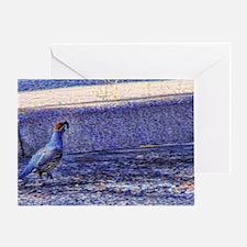 quail Greeting Card