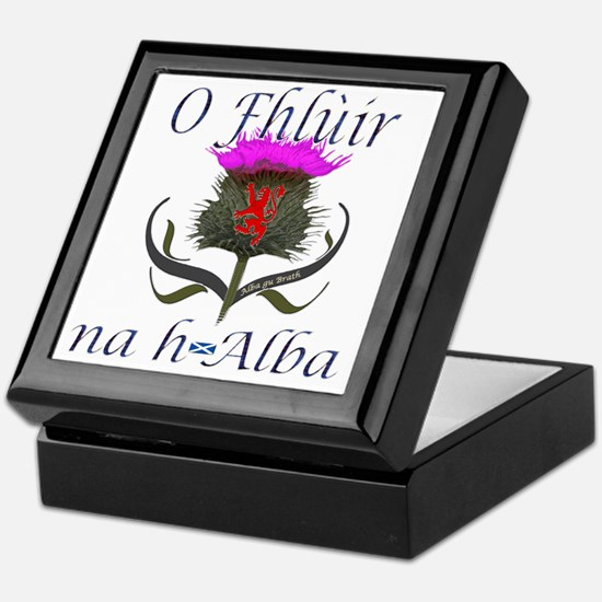 Flower of Scotland Gaelic Thistle Des Keepsake Box