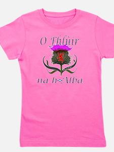 Flower of Scotland Gaelic Thistle Desig Girl's Tee