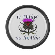 Flower of Scotland Gaelic Thistle Large Wall Clock