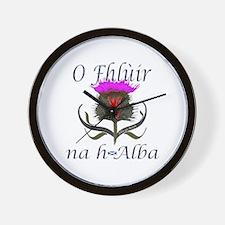 Flower of Scotland Gaelic Thistle Desig Wall Clock