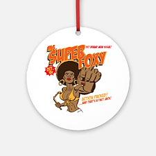Ms. Super Foxy Round Ornament