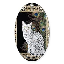 Silver Egyptian Mau Decal