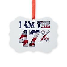 I am the 47% Romney American Flag Ornament