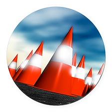 Traffic cones Round Car Magnet