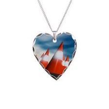 Traffic cones Necklace Heart Charm