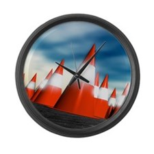 Traffic cones Large Wall Clock