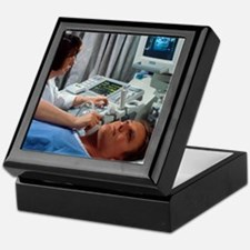 Doppler ultrasound scanning of caroti Keepsake Box