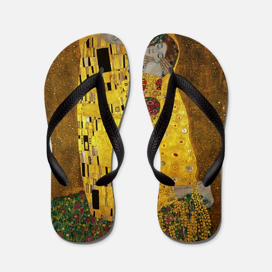 Gustav Klimt The Kiss Flip Flops