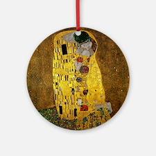 Gustav Klimt The Kiss Round Ornament