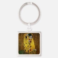 Gustav Klimt The Kiss Square Keychain