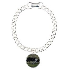 Border Collie Wiston Cap Charm Bracelet, One Charm