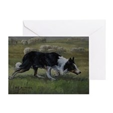 Border Collie Wiston Cap Greeting Card