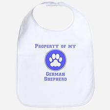 Property Of My German Shepherd Bib