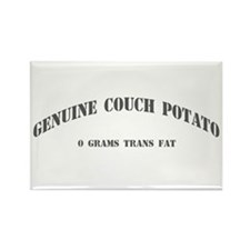 Genuine Couch Potato Rectangle Magnet