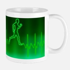 ECG and man running Mug