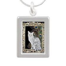 Silver Egyptian Mau Silver Portrait Necklace