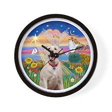 Autumn Angel  Lab (Y-Bz) Wall Clock