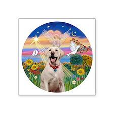 """Autumn Angel  Lab (Y-Bz) Square Sticker 3"""" x 3"""""""