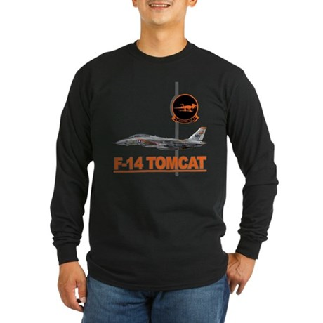 F-14 Tomcat VF-114 Aardvarks Long Sleeve Dark T-Sh