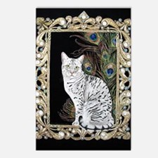 Silver Egyptian Mau Postcards (Package of 8)