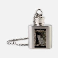 Silver Egyptian Mau Flask Necklace