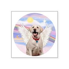 "Labrador Angel (Y - Bz) Square Sticker 3"" x 3"""