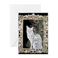 Silver Egyptian Mau Greeting Card