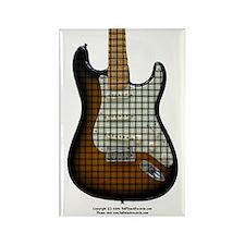 """Weave"" Guitar Rectangle Magnet"