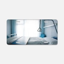 Empty hospital bed Aluminum License Plate