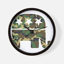 Republican Camo Elephant Wall Clock