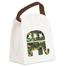 Republican Camo Elephant Canvas Lunch Bag