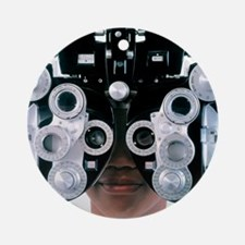 Eye examination Round Ornament