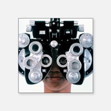 "Eye examination Square Sticker 3"" x 3"""