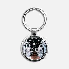 Eye examination Round Keychain