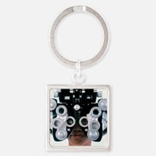 Eye examination Square Keychain